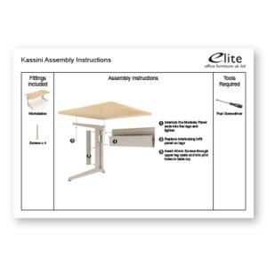 Kassini Assembly Instructions Front Cover