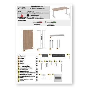 Progress Plus Single Desk Assembly Instructions Front Cover