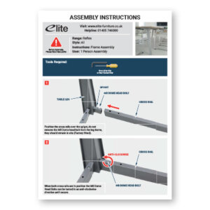 Reflex Assembly Instructions Front Cover
