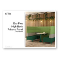 Evo Plus High Back Privacy Panel Flyer Front Cover