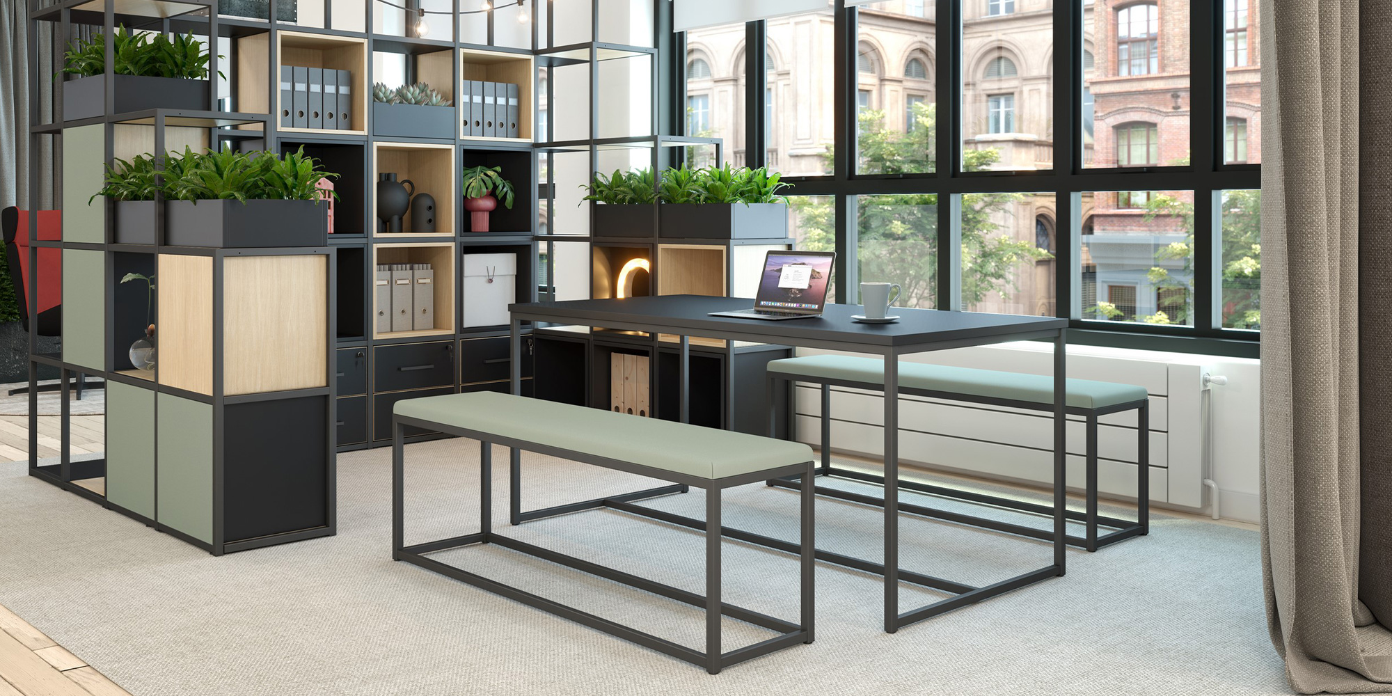 Cubeform Bench Roomset