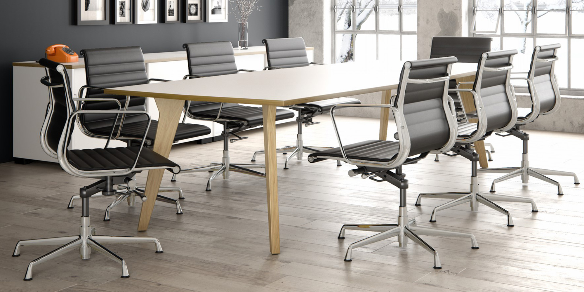 Lux Boardroom Table Roomset
