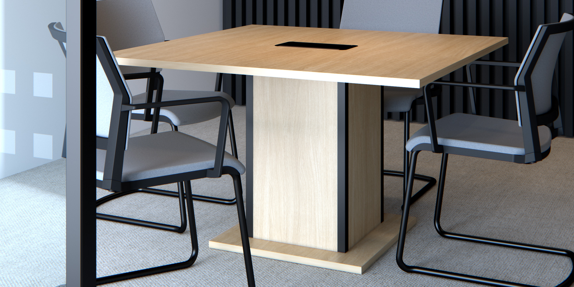 Qube Boardroom Table Roomset