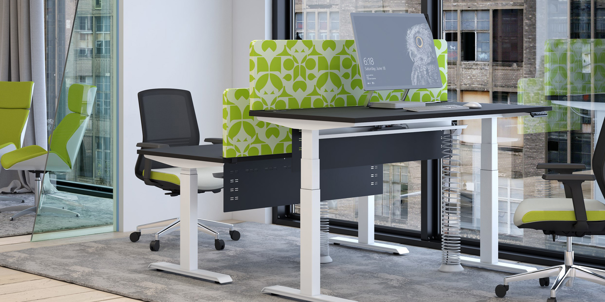 Acoustic Desk Mounted Screens Roomset