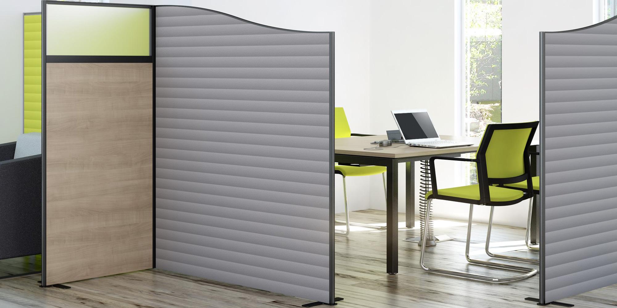 System Floor Standing Screens Roomset