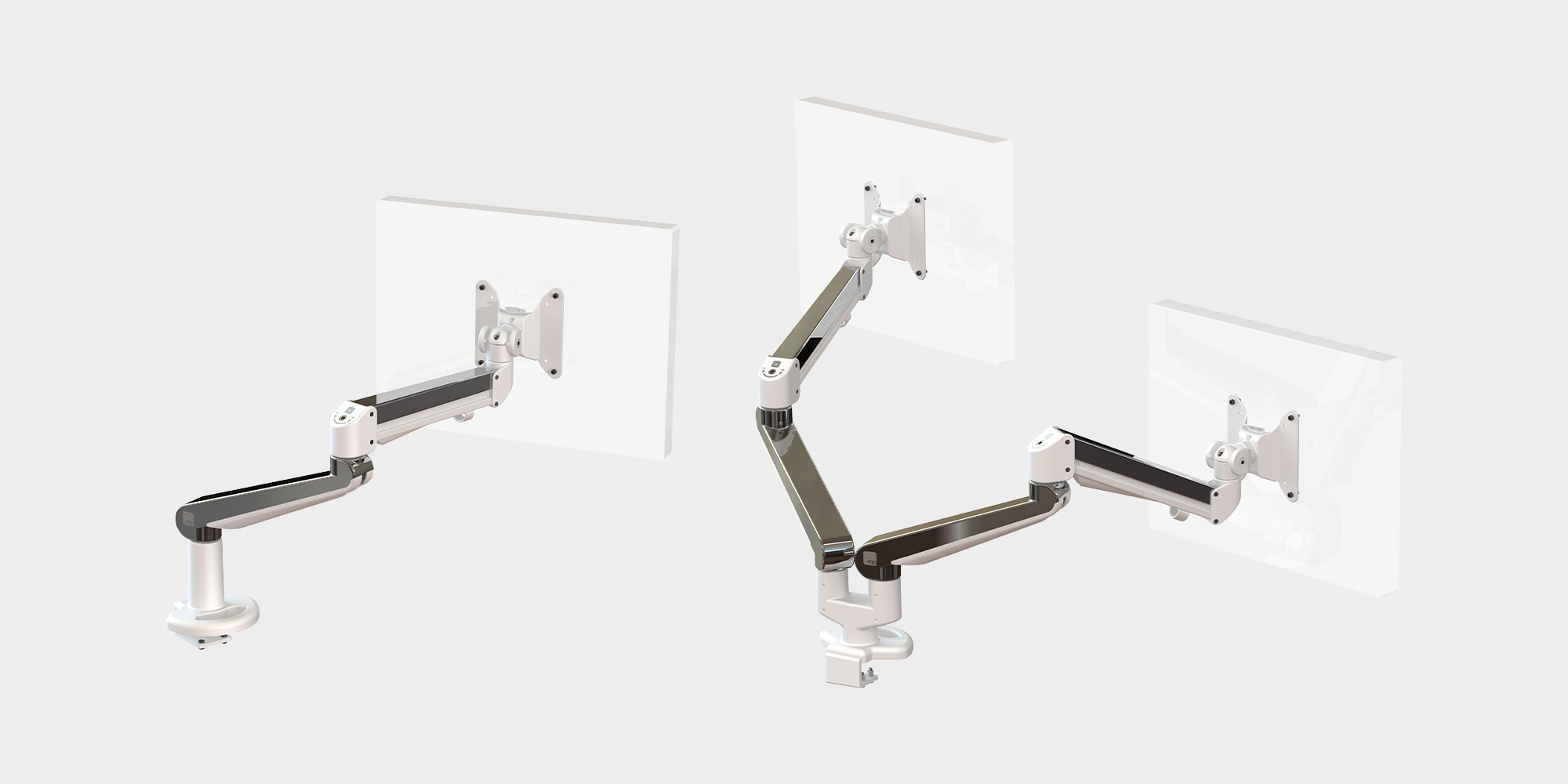 Ascend Monitor Arm Roomset