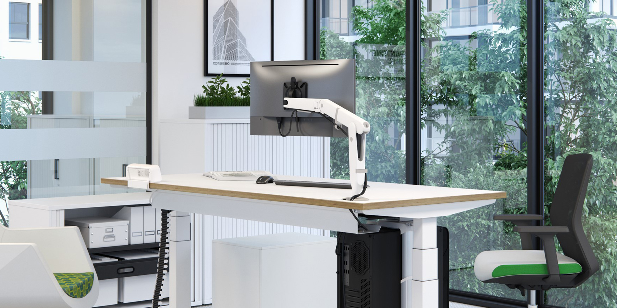 Ollin Monitor Arm Roomset