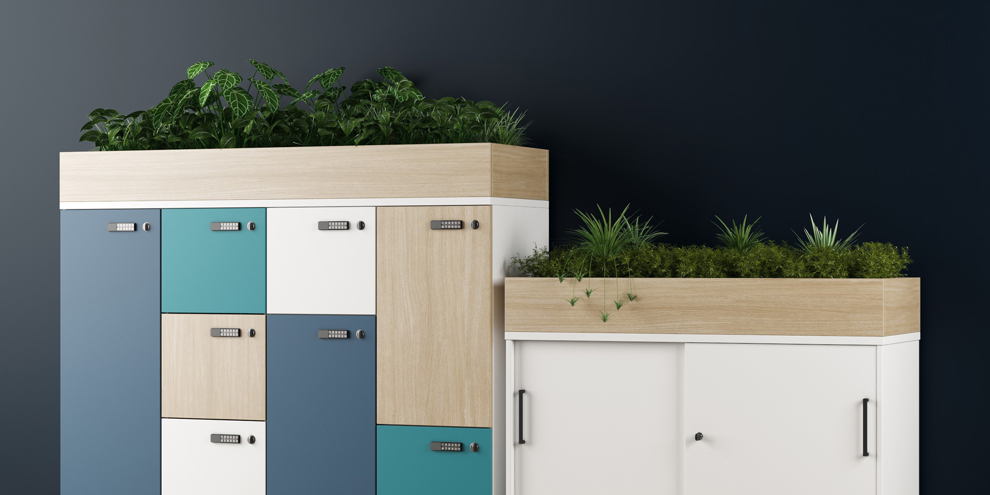 Storage Planter Units Roomset