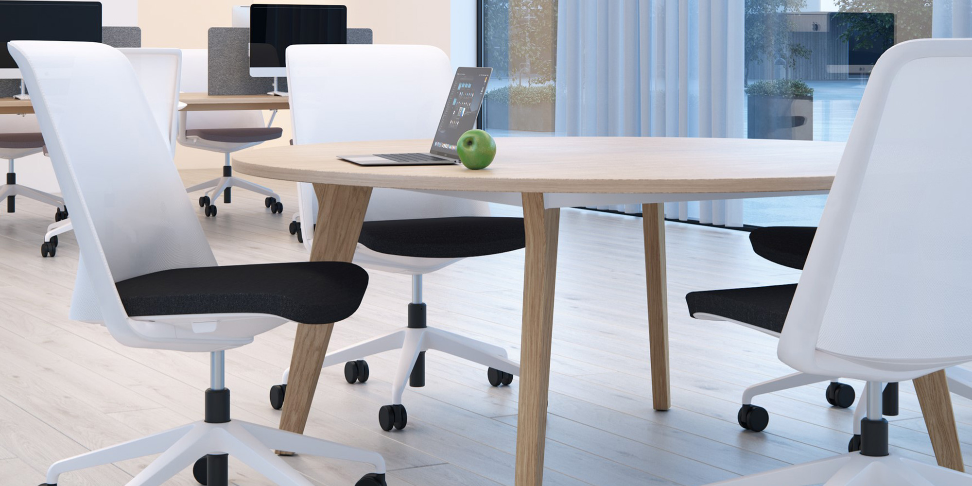 Breeze Task and Meeting Seating Roomset