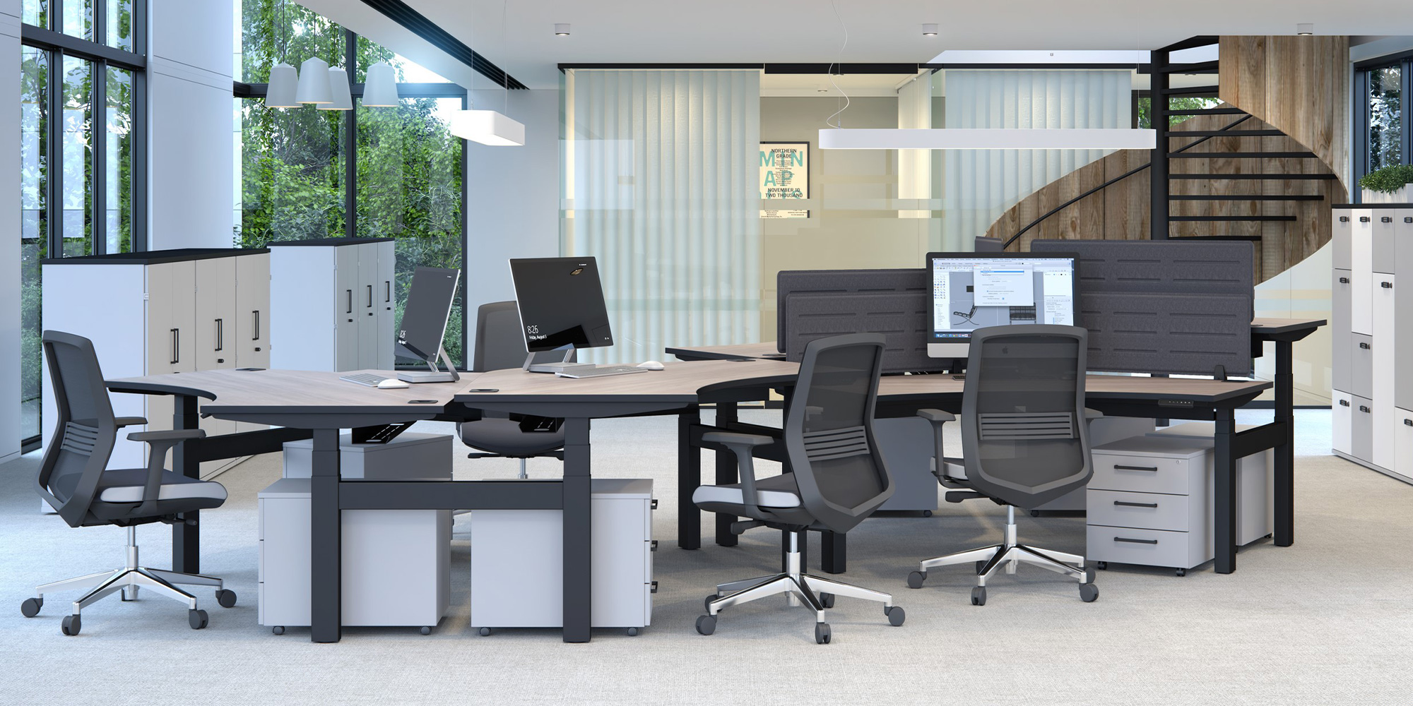 Vida Task and Meeting Seating Roomset