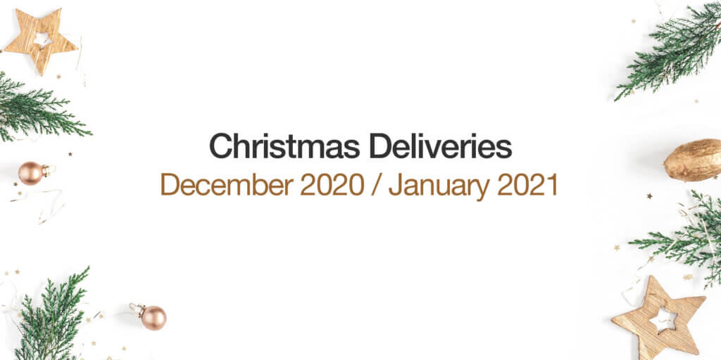 Delivery Dates for December 2020 to January 2021